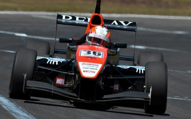 Alex Lynn claimed his second victory of the Toyota Racing Series weekend at Taupo, with a lights-to-flag victory in the Denny Hulme Memorial Trophy feature race.