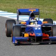 Tom Dillmann posted the fastest time on the opening day of GP2 Series pre-season testing at Jerez, putting series newcomers Hilmer Motorsport in top spot on their first ever day of running.