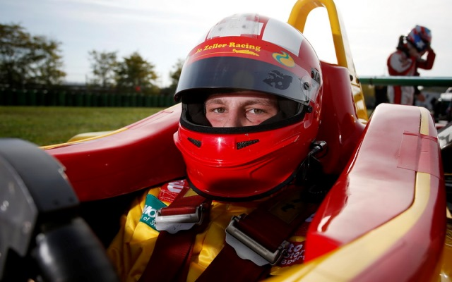 Swiss driver Sandro Zeller will continue racing for his father's team in European F3, the series website having confirmed him for a 2013 seat.