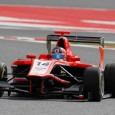 Tio Ellinas got his GP3 title bid off to the best possible start by winning the first race of the season from pole-position, fighting off intense pressure from rival Patric Niederhauser in the final laps.