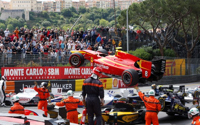 Johnny Cecotto has been suspended and will miss the GP2 sprint race in Monaco as punishment for causing a pile-up at the start of the feature race.