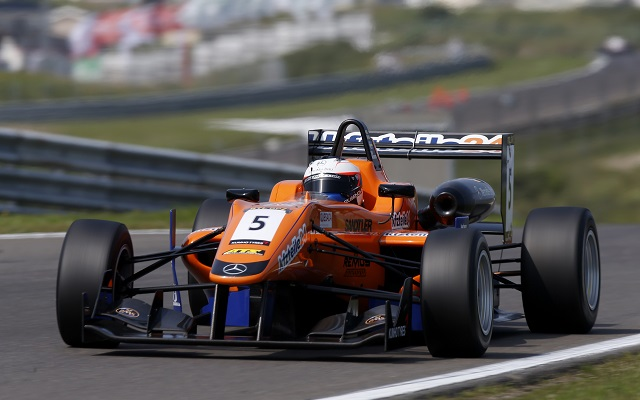 Mucke's Felix Rosenqvist turned this year's Masters of Formula Three event at Zandvoort into a relaxing Sunday drive for himself as he dominantly converted pole into a lights-to-flag victory in the race.