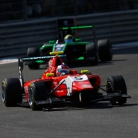 Patric Niederhauser claimed his third reverse grid win of the 2014 GP3 season in the final race of the year in Abu Dhabi, securing the victory with a fast start.