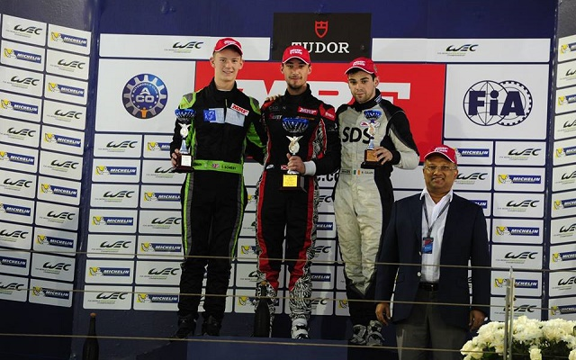 Guest driver Struan Moore led an all-GB podium in Bahrain (Photo: MRF Racing)