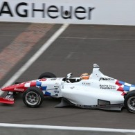 22-year-old Jack Harvey showed patience and perseverance to win the Indy Lights Freedom 100 at the Indianapolis Motor Speedway - his first oval victory and his second series win in 2015.