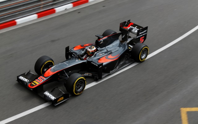 Stoffel Vandoorne made it three wins out of three in GP2 feature races in 2015 as he beat Alexander Rossi out of the pits to triumph in Monaco.