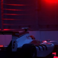 Esteban Ocon set the fastest time in a wet GP3 practice session that was run into near darkness at Sochi.