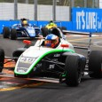 Thomas Randle led the third and final Australian Formula 4 race in Surfers Paradise from start to finish to complete a triple win and keep up his championship challenge.