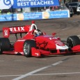 Felix Rosenqvist went wire-to-wire in a controlling performance Sunday morning to claim his first Indy Lights race victory for Belardi Auto Racing, in his second start in the series in St. Petersburg.