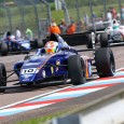 Petru Florescu regained the championship lead in the newly-renamed British Formula 4 after a dominant win in the first race at Thruxton coincided with a spectacular crash for Max Fewtrell.