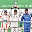 Ed Jones was sitting in third place with four and a half laps to go in the first Indy Lights race at the Indianapolis Motor Speedway road course, but took an opportunistic victory in Friday's 30-lap race.