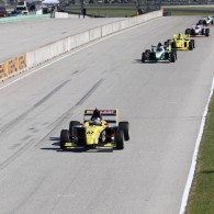Aaron Telitz secured two crucial race wins in Saturday's Pro Mazda races to move ever closer to a slumping Patricio O'Ward in the Drivers' Championship.