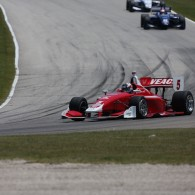 Zach Veach would not be denied on Saturday afternoon, as the 21-year-old Ohioan celebrated his first Indy Lights victory in nearly two years by going wire-to-wire in the first of two Indy Lights races at Road America.