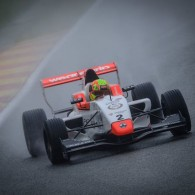 Lando Norris has won the first Formula Renault 2.0 NEC race at Spa-Francorchamps in wet conditions.