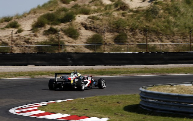 Joel Eriksson won the Zandvoort Masters of Formula 3 qualifying race after passing Callum Ilott off the start.