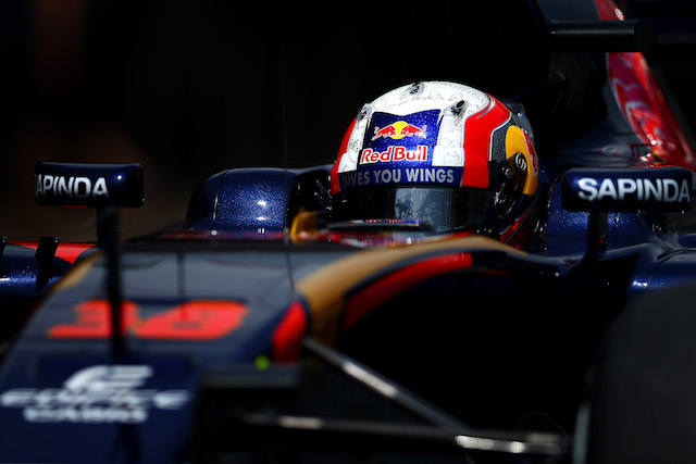 MONTMELO, SPAIN - MAY 17:  Pierre Gasly of France drives as he exits the Scuderia Toro Rosso garage during day one of Formula One testing at Circuit de Catalunya on May 17, 2016 in Montmelo, Spain.  (Photo by Dan Istitene/Getty Images)