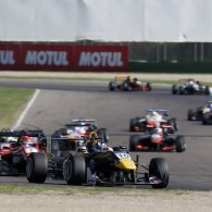 Niko Kari produced a stunning move around the outside of champion-elect Lance Stroll to score his maiden FIA Formula 3 European Championship win in the first Imola race.