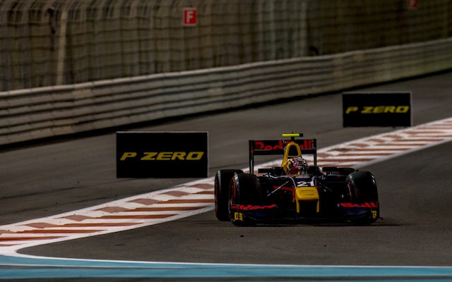 Pierre Gasly will take a 12-point lead into the final race of the GP2 season after a dominant feature race win in Abu Dhabi.
