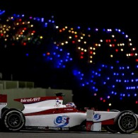GP3 runner-up Alex Albon topped the times on only his second day in a GP2 car in the Abu Dhabi post-season test.