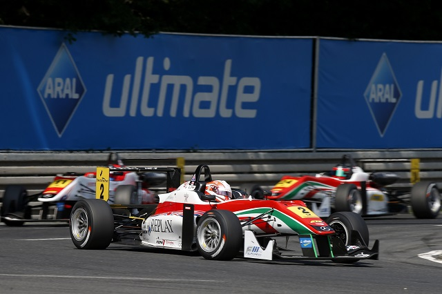 A strong Norisring showing from Lynn saw him move up to third overall (Photo: FIA F3)