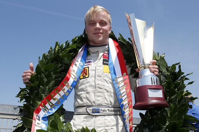 A very convincing performance sees Rosenqvist lift the Masters trophy for the second time (Photo: FIA Formula 3 European Championship / Thomas Suer)