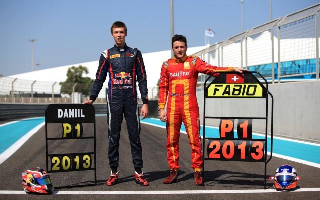 Daniil Kvyat and Fabio Leimer