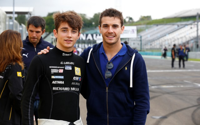 Charles Leclerc and Jules Bianchi