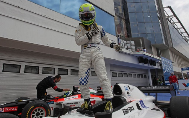 Having narrowly missed out in 2014, Sato made the most of his second shot at the Auto GP title (Photo: Auto GP)