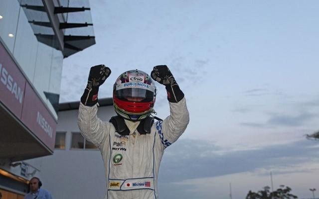 Michimi's three-round stint culminated in a surprise win at Estoril (Photo: Auto GP)