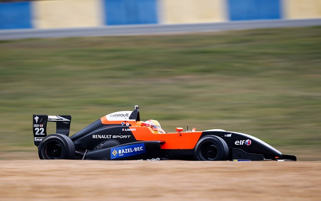 22HUBERT Anthoine Tech1 action during 2015 Europa Cup Formula Renault 2.0 tests at Le Mans, France from March 10th to 11th 2015. Photo Bastien Baudin / DPPI